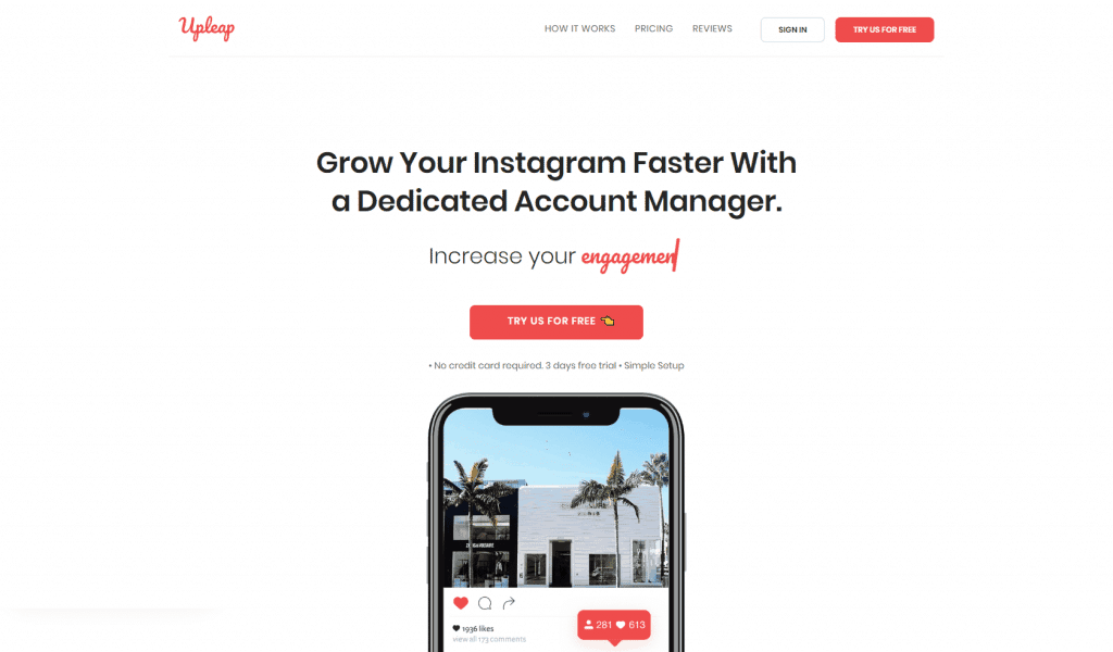 Upleap is one of the best Instagram tools
