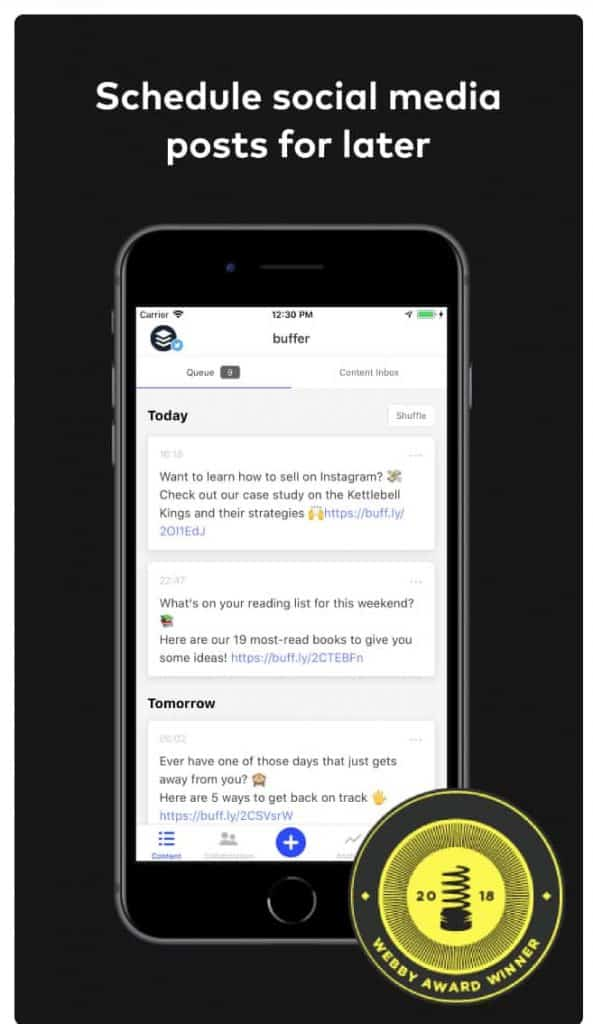 Buffer - Schedule Social Media Posts for Later