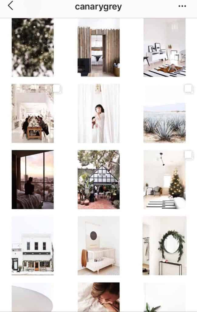Scheduling Instagram Posts for a Consistent Feed. Example from @canarygrey