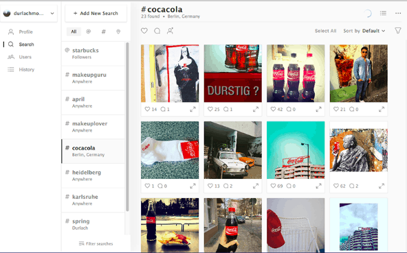 combin review advanced instagram search feature