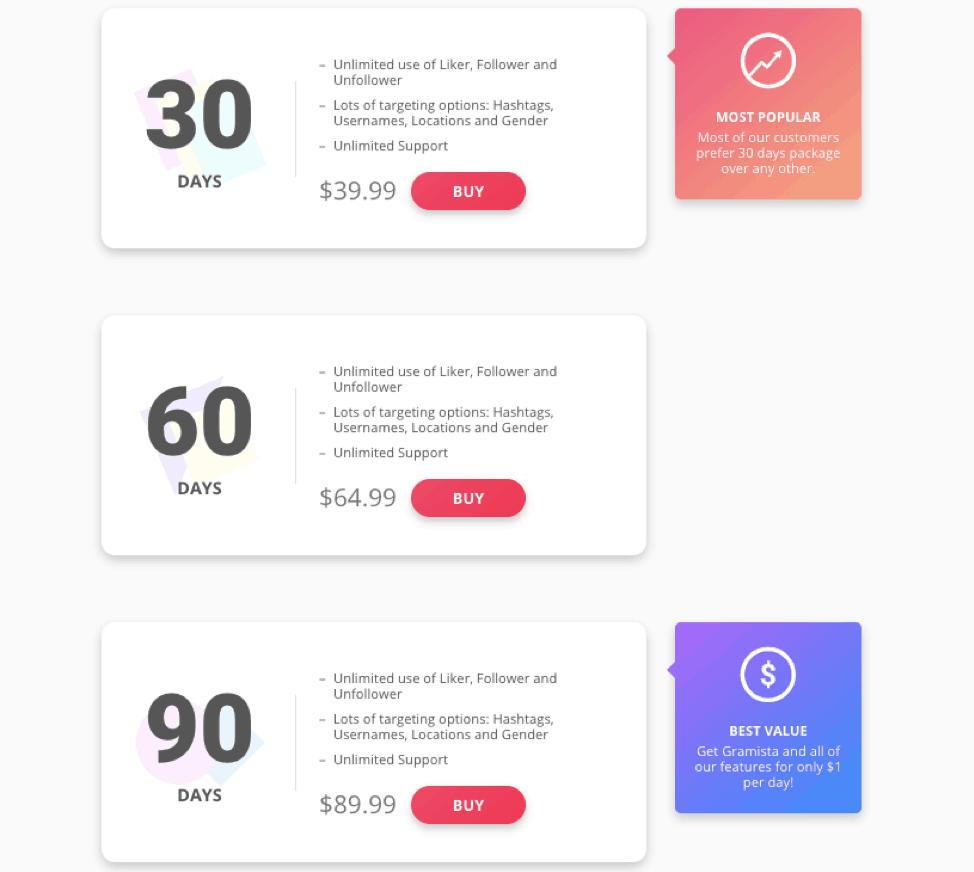 gramista pricing plans
