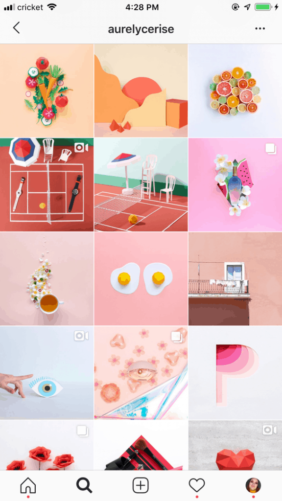 @aurelycerise example of Instagram theme