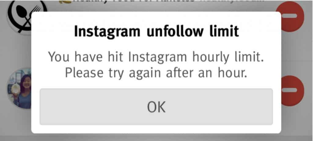 instagram notification unfollow limit