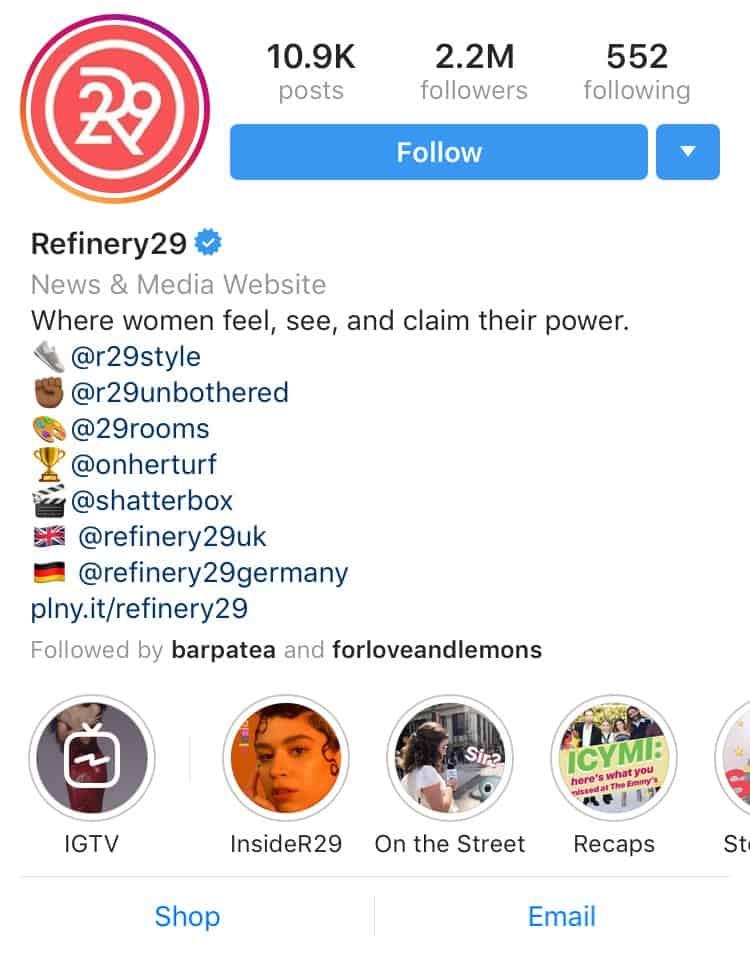 Refinery 29 Instagram Feed