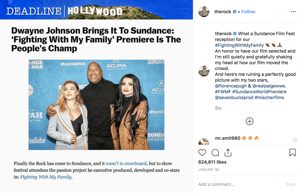 Fighting with my Family premiere at Sundance