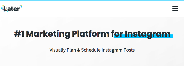 instagram marketing service later