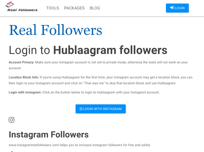instagram real followers website