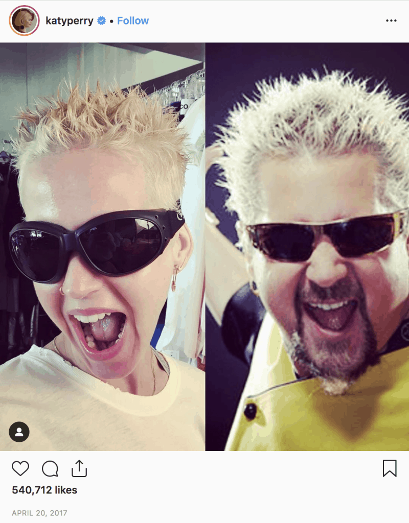 Katy Perry as Guy Fieri