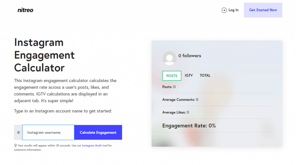 Nitreo Instagram Engagement Calculator
