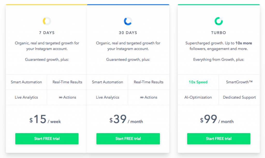 socialcaptain pricing options