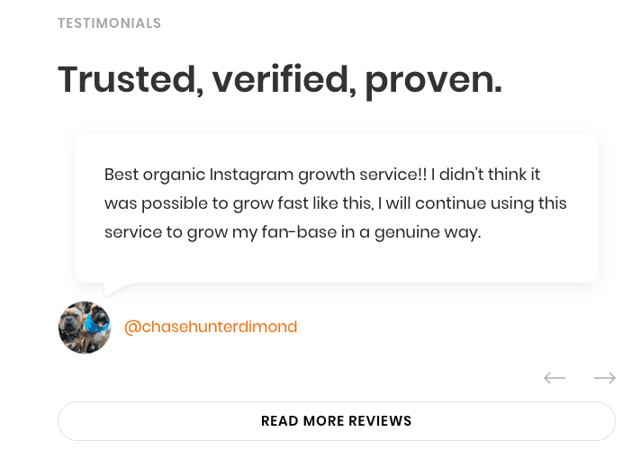 socialsteeze reviews testimonials on website