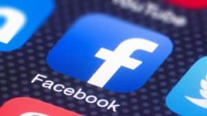 facebook app logo on smartphone
