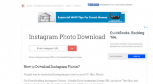 save instagram photos with dinsta