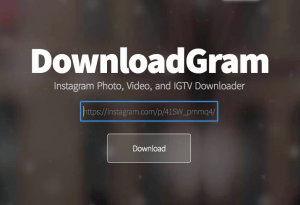 how to save instagram photos with downloadgram