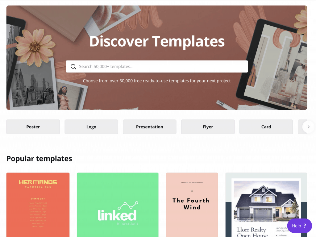 Tool for Templates: Canva
