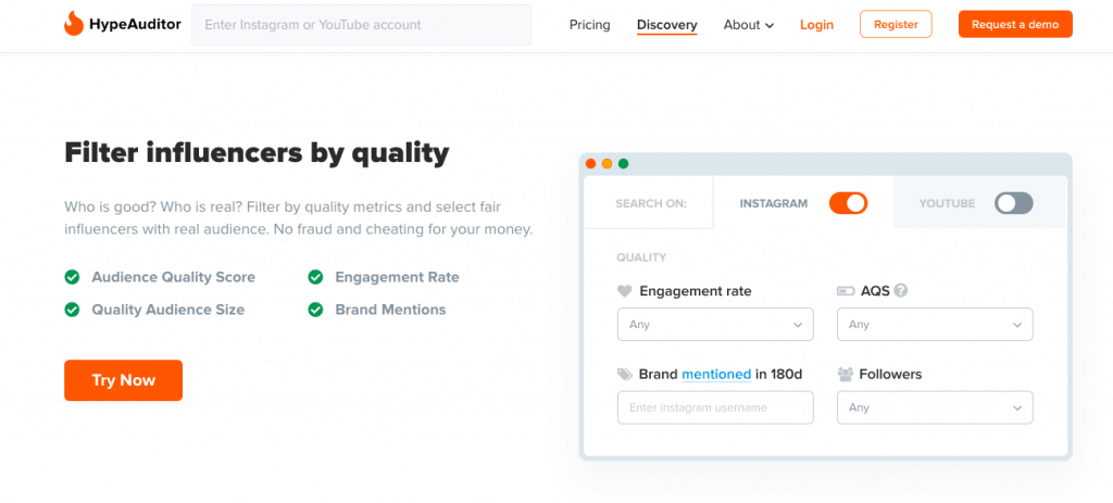 Hypeauditor - Instagram influencer marketing platform