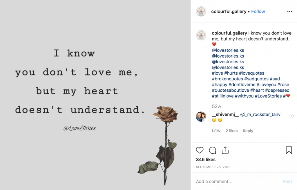 Sad Instagram Quote