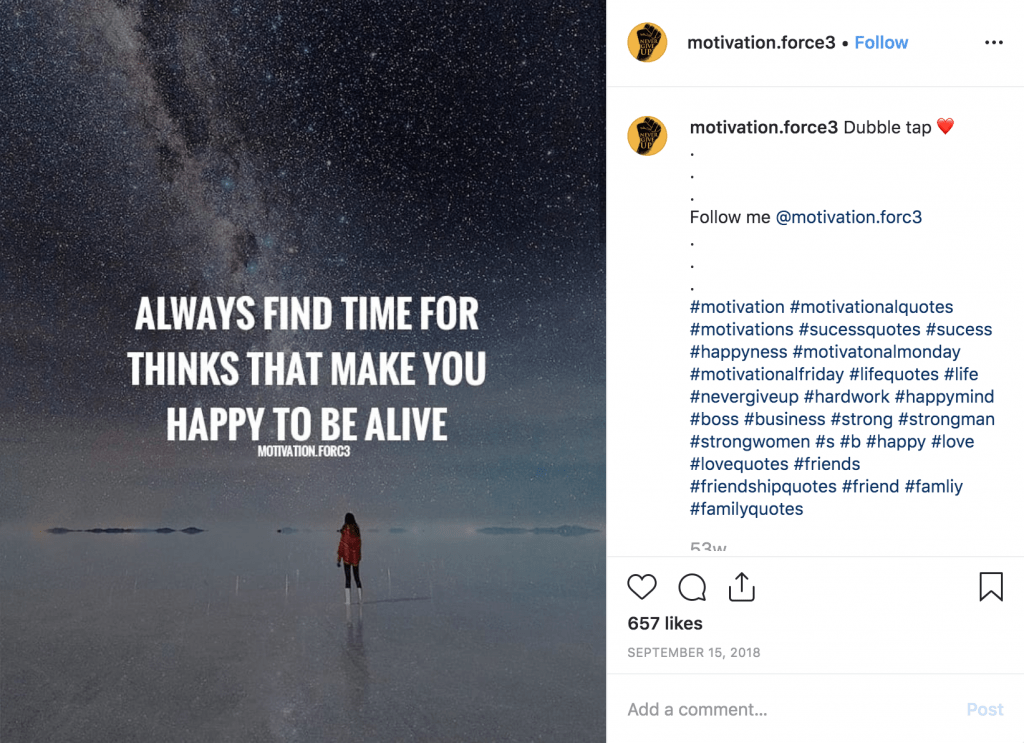 Motivational Instagram Quote