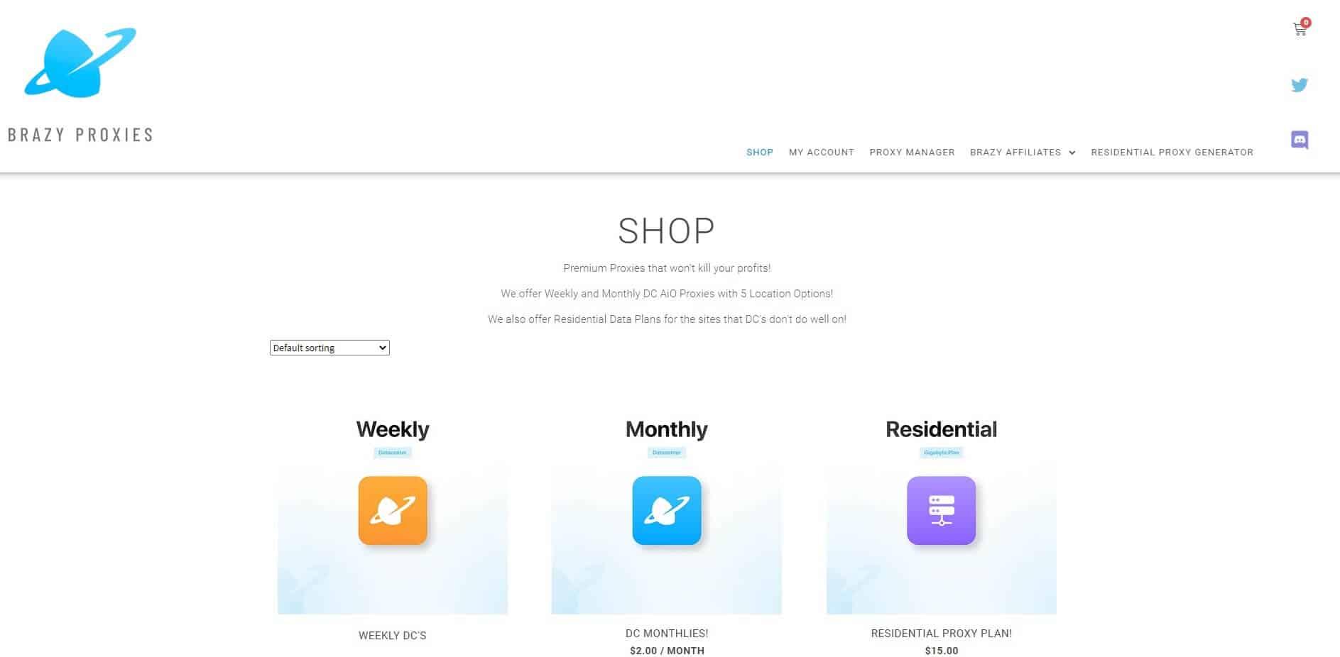 A screenshot showing Brazy Kicks Proxies's homepage
