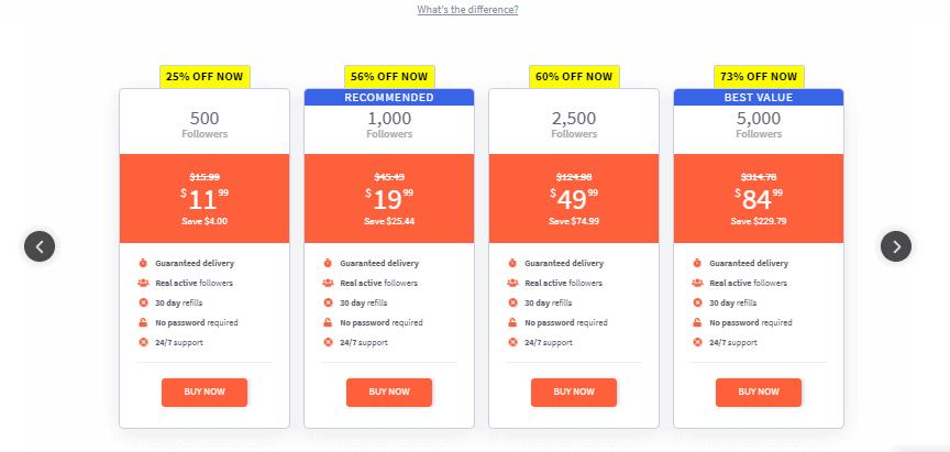A screenshot showing premium followers